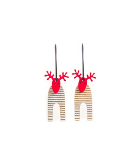Earrings Moose 1C