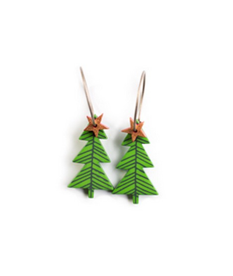 Earrings XMas Tree 7C