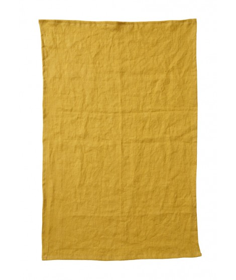Kitchen towel Linn mustard 2-set