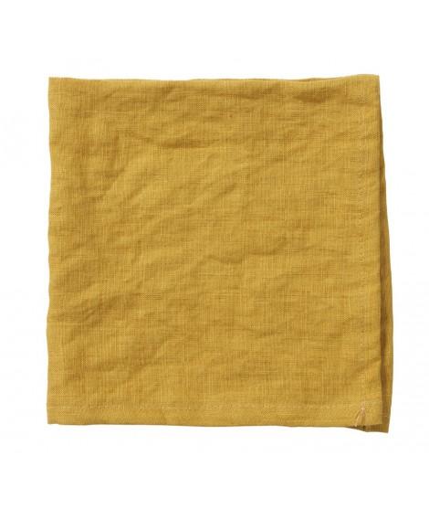 Linen napkins Linn mustard 2-set