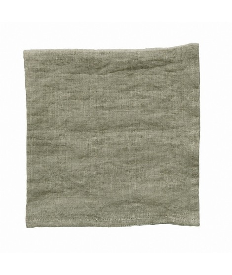 Linen napkins Linn green 2-set