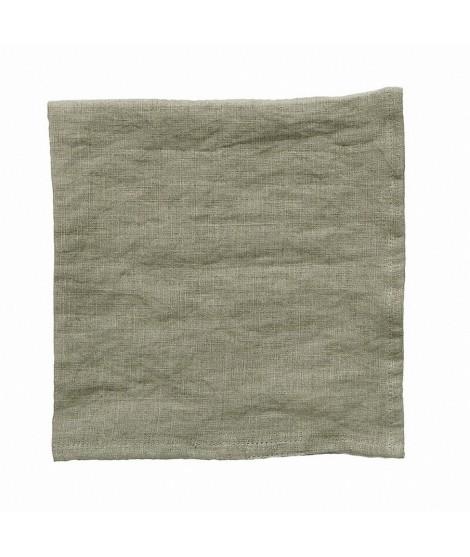Linen napkins Linn green 2-set
