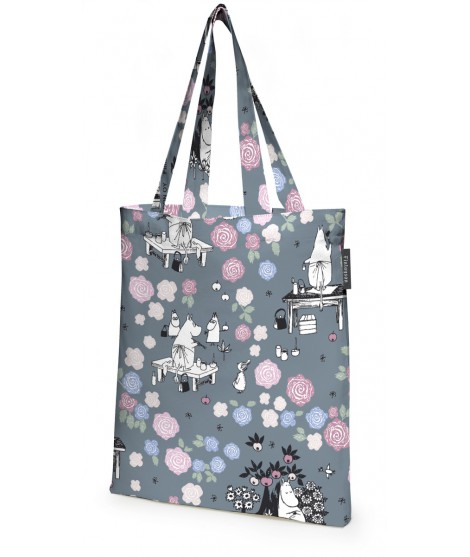 Cotton shopping bag Moomin blue rose