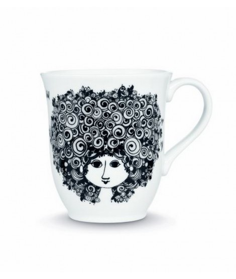 Porcelain mug Rosalinde black 350ml