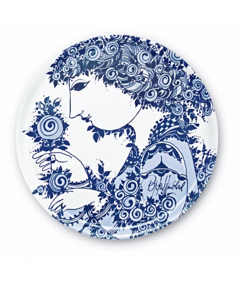 Round tray Rosamunde blue d46