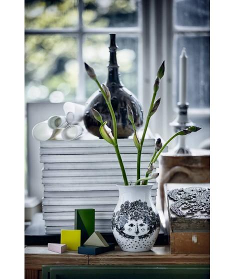 Porcelain vase Felicia black h18 2
