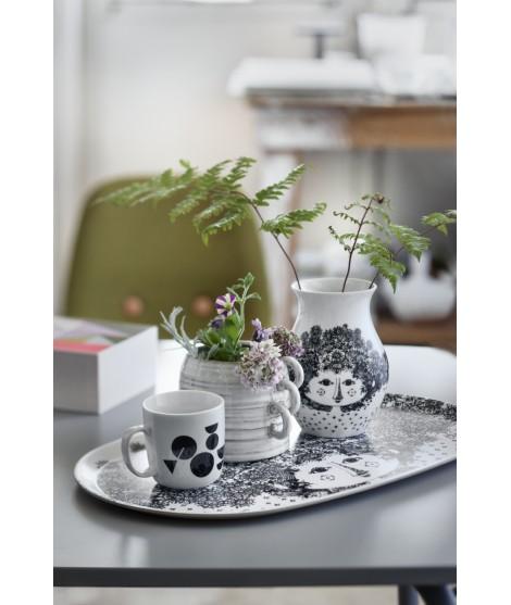 Porcelánová váza Felicia black H18 3