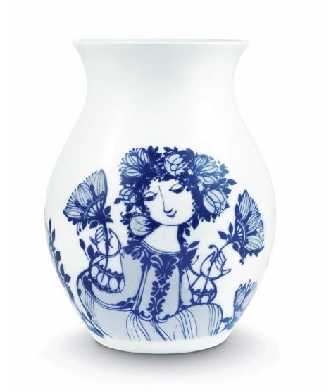 Porcelain vase Amelia blue H21
