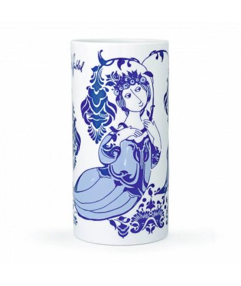 Porcelánová váza Lily blue H18