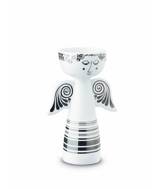 Porcelánový svícen Lucia Angel silver H13,5