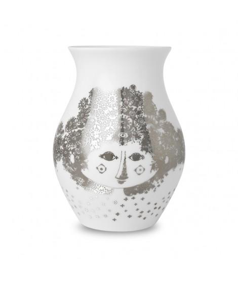 Porcelain vase Felicia silver h18