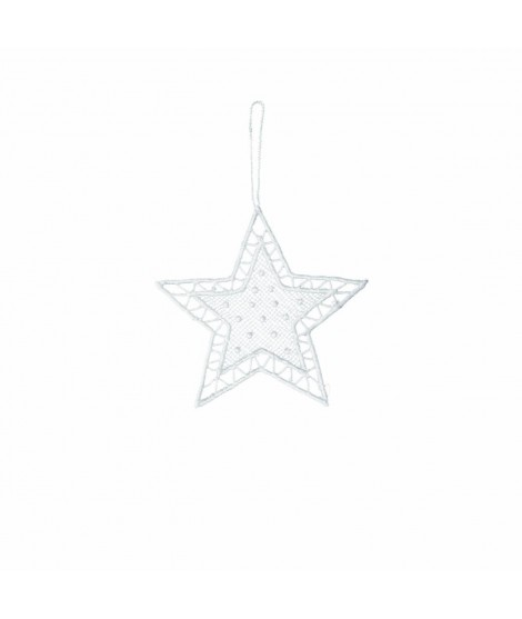 Ornament Noel Christmas Star white 8cm