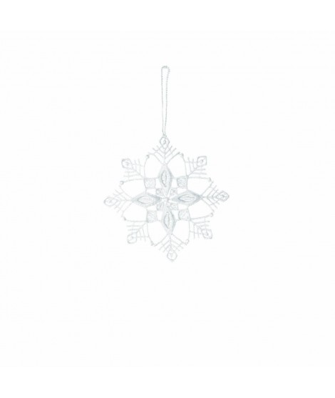 Ornament Noel Snowflake white 8cm