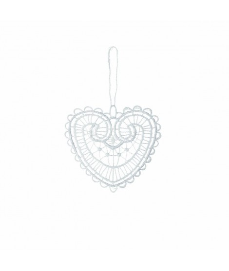 Ornament Noel Heart white 10cm