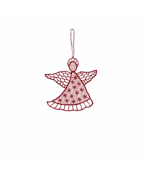 Ornament Noel Angel red 10cm