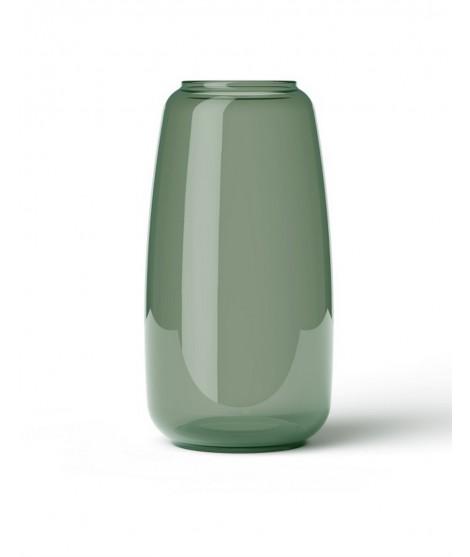 Skleněná foukaná váza Lingby 1303 green H22