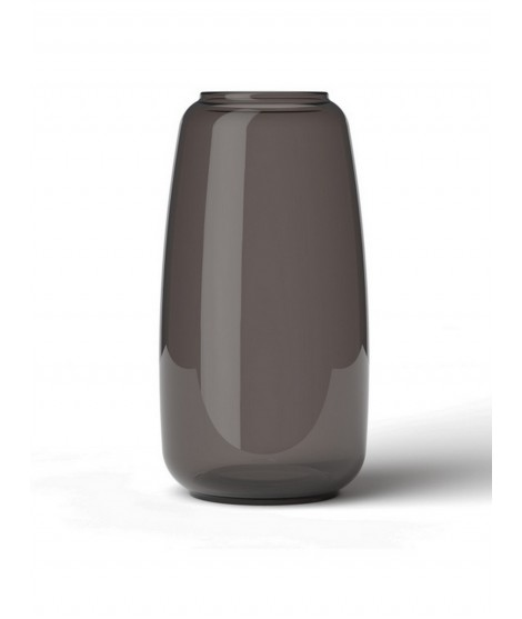 Skleněná foukaná váza Lingby 1302 smoke brown H17,5