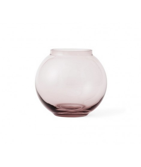 Mouth blown glass vase Lingby 703 burgundy H14