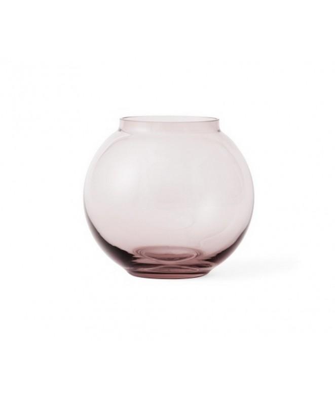 Skleněná foukaná váza Lingby 703 burgundy H14