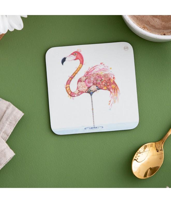 Tácek pod sklenici Flamingo