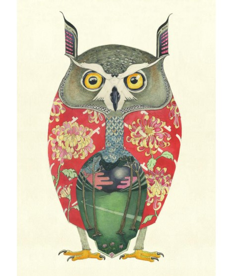 Art print The DM Long eared Owl