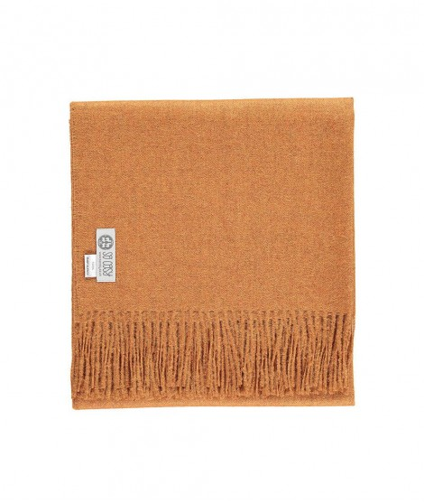 Woolen scarf Lilly curry 60X200