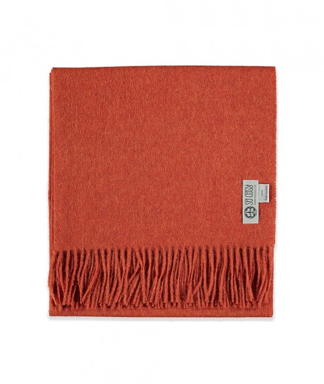 Woolen scarf Lilly deep orange 60X200