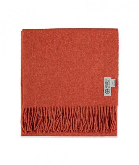 Woolen scarf Lilly deep orange 60X200