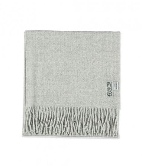 Woolen scarf Lilly silver grey 60X200