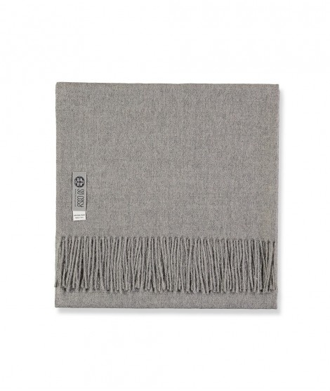 Woolen scarf Lilly grey 60X200