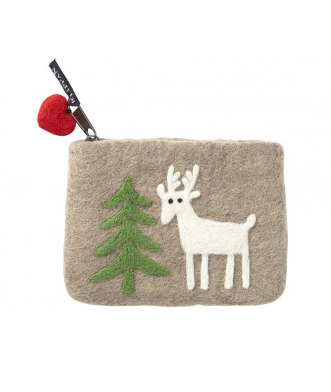 Felted purse Forest beige