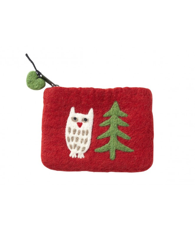 Felted purse Forest red