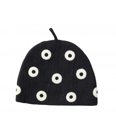 Felted teapot cover Tea Cosy Black