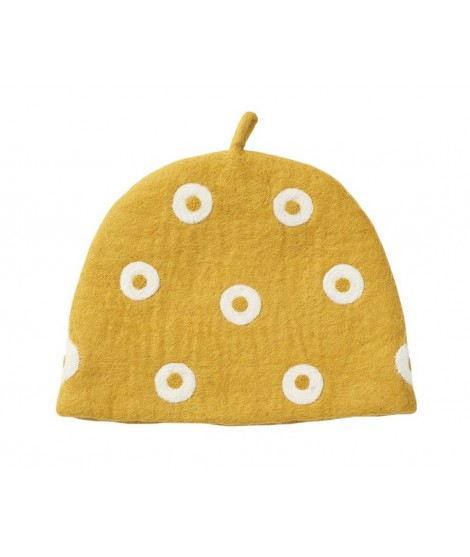 Felted teapot cover Tea Cosy Yellow