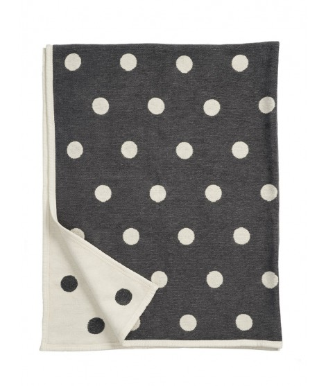 Cotton blanket Dots graphite