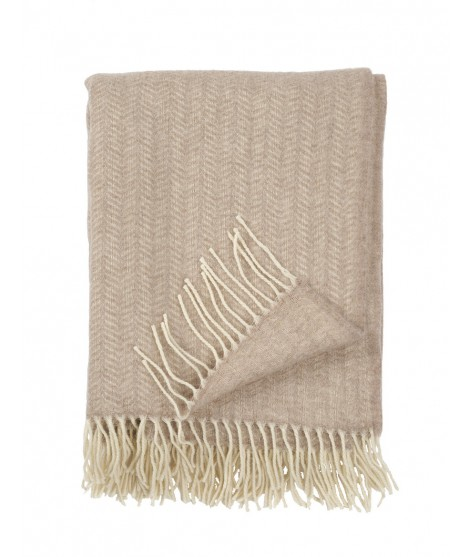 Wool throw Tippy beige melange