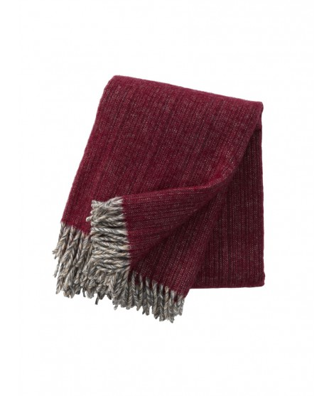 Wool throw Bjork cherry