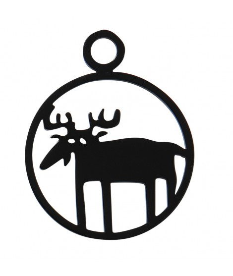 Key ring Moose black