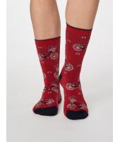 Bambusové ponožky s kolem Bicicletta red 37-40