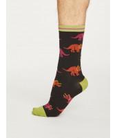 Bambusové ponožky Dino black