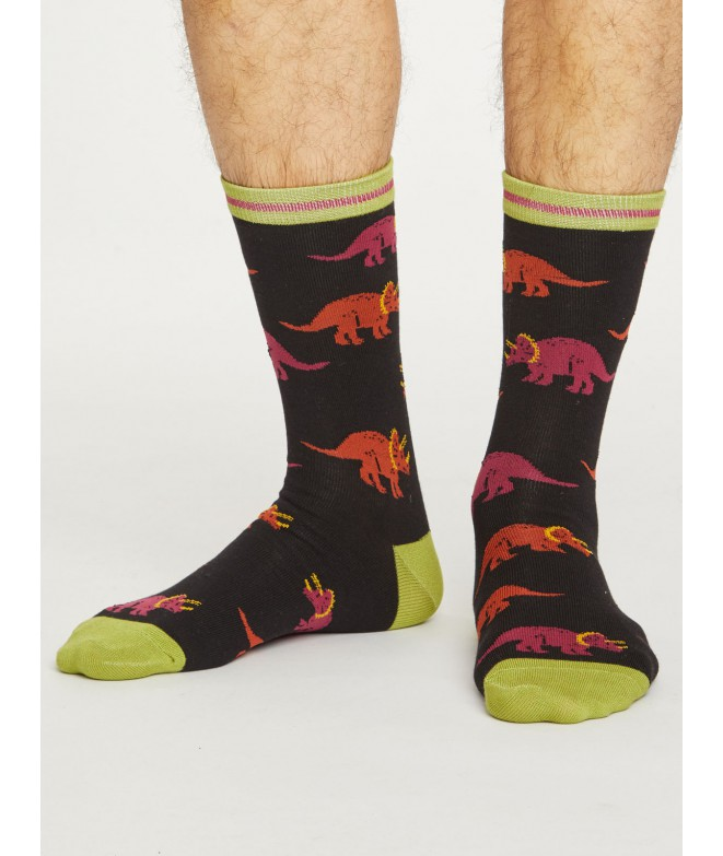 Bambusové ponožky Dino black 40-46