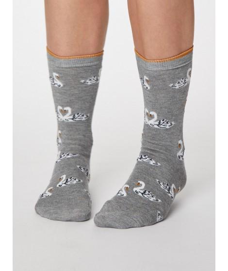 Bamboo socks Cigno grey 37-40