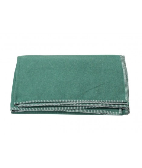 Cotton blanket SYLT dark green