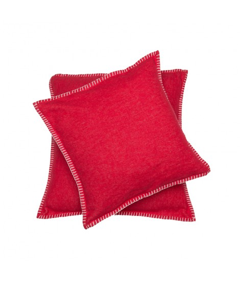 Cotton cushion SYLT cherry red