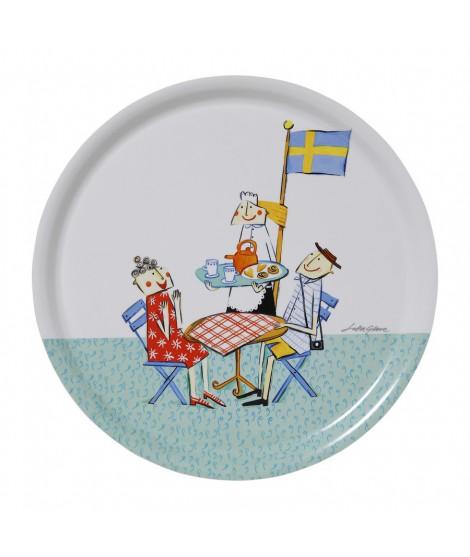 Round tray Fika