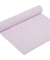 Běhoun na stůl Boel pastel pink 33x120