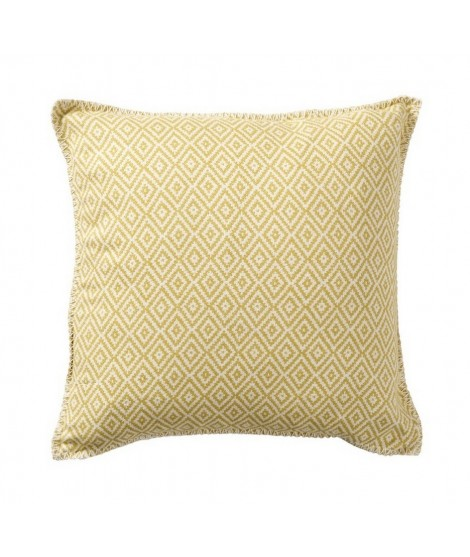 Cotton cushion cover Stella yellow 45x45