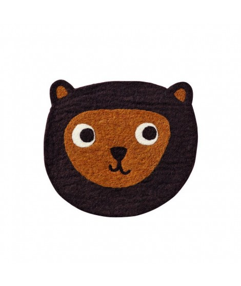 Felted seat pad Little Bear brown 28cm