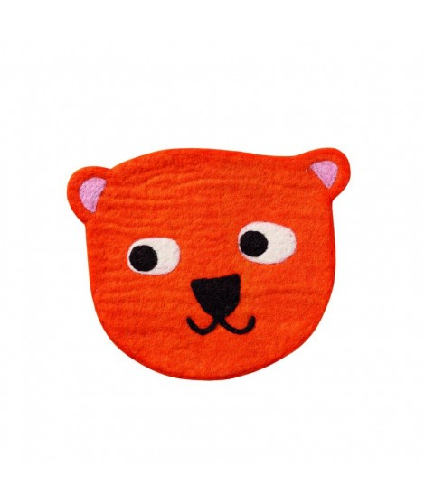 Felted seat pad Little Bear orange 28cm
