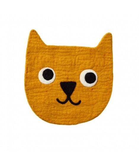 Plstěná podložka Little bear yellow 28cm